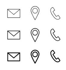 Phone And Address Icons Web Email Phone Location Vector Images Over 580