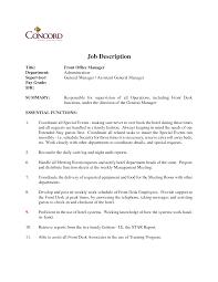resume for front desk agent