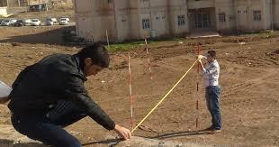 Surveying Taping Taping On Sloppoing Ground