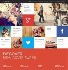 Social Media Design Templates 24 Social Media Website Themes Templates Free Premium Templates