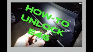 bmw e46 door lock how to