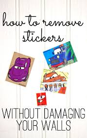 how to remove stickers without damaging