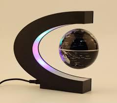 Bolcom Zwevende Wereldbol Met Led Lamp Verlichting C Vorm Hq
