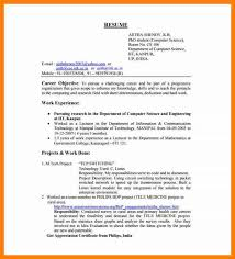 Resume Objectives For Freshers Fascinating 44 Freshers Resume Samples For Engineers Trinitytraining