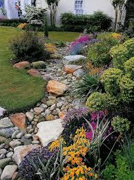 a dry creek bed design in the home landscape creates interest and provides bedroommagnificent lush landscaping ideas
