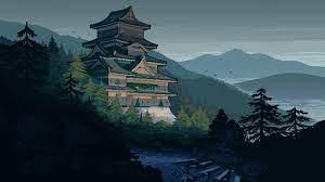 1920x1080 Japanese Castle Pixel Art ...