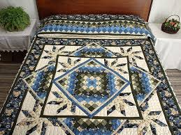 Commons Star Medallion Quilt -- outstanding well made Amish Quilts ... & Blue Cream and Dark Green Commons Star Medallion Quilt Photo 1 ... Adamdwight.com