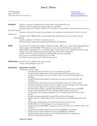Brilliant Ideas Of Resume Samples For Software Engineers