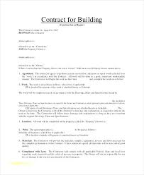 with material construction agreement building contractor agreement template quick construction contract