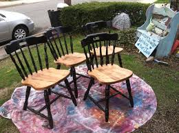 refinished wood chairs for jason