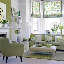 green living room design: good example of Chromatic Distribution, with  largest areas in neutral