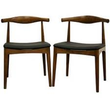 sonore solid wood mid century style dining chair set of 2