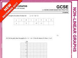 gcse 9 1 exam question practice non linear graphs