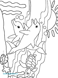 Coloring Page Water Animals Coloring Pages Page Underwater At