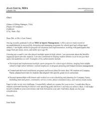Mba Graduate Cover Letter