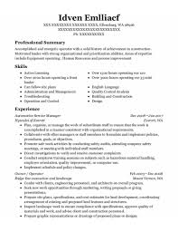 Automotive Service Manager Resumes Best Automotive Service Manager Resumes Resumehelp
