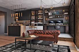 Bachelor Room Industrial Style 3 Modern Bachelor Apartment Design Ideas