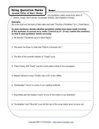 Quotation Marks Free Printable Punctuation Worksheets