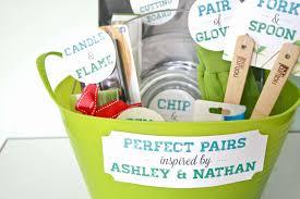 wedding gift hamper ideas lovely diy perfect pairs bridal shower