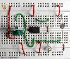 Automatic Light Operated Switch Using Ldr And Ic 741 Simple Light Sensor Using 741 Op Amp Rookie Electronics