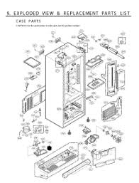 lg refrigerator parts diagram. section 1 parts for lg refrigerator lfx25961sw / aswclga from appliancepartspros.com lg diagram a