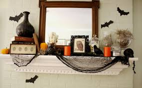 y mantel design ideas with theme to make your living room look scary gothic