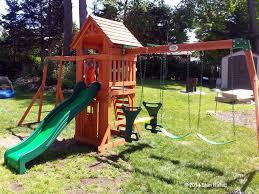 backyard discovery sonora cedar wood swing set backyard discovery sonora cedar wood swing set