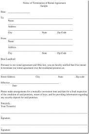 9 10 lease agreement letters resumetablet. Sample Rental Termination Letters Notice Form Formats
