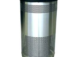 metal kitchen trash cans can and husky classy black large red kit