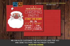 Christmas Invitation Card Christmas Invitation Card Ai Eps Psd Files