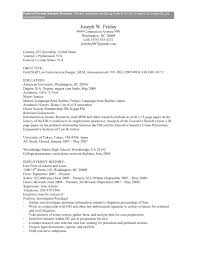 Study Abroad Resume Sample Federal Government Resume Example Federal Government Resume 15