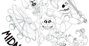 Five Nights At Freddys Coloring Pages Mangle Print 2 Birthday J