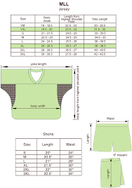 Size Charts For Products Projoy Sportswears And Apparel