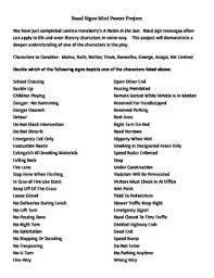 A Raisin In The Sun Character Chart Answer Key A Raisin In The Sun Character Road Sign Project