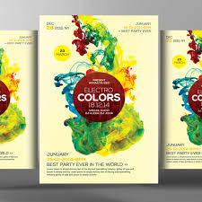 template for advertisement futuristic colors flyer psd template advertisement celebration