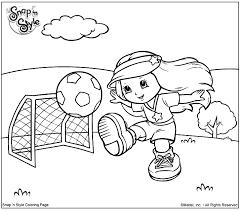 Voetbal Meisje Kleurplaat