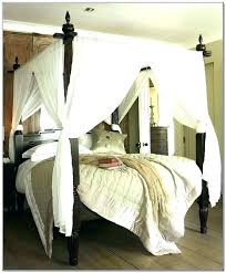 Ceiling Fabric Draping Bedroom Draped 4 Poster Bed Canopy Ideas Hang ...
