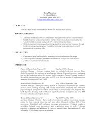 Cosy Nurse Manager Resume Objective In Restaurant Manager Resume