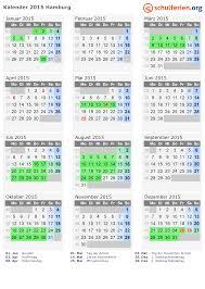 Kalender 2015 Ferien Hamburg Feiertage