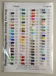 Glass Beads Color Chart Wholesale Beads Beads Jewelry