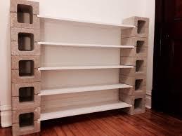 DIY shelf with concrete blocks