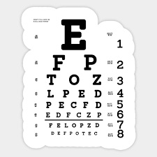 Limited Edition Exclusive Snellen Eye Test Chart