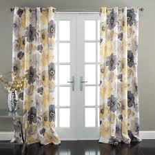 Curtains Yellow And Gray 81jr4lj11ll Sl1500 Amazon Com Lush Decor Leah Room  Darkening Window Curtain