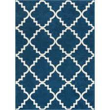 sydney lulu s lattice trellis navy blue 8 ft x 11 ft modern area rug