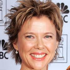 Hairstyles Annette Benings Textured Updo