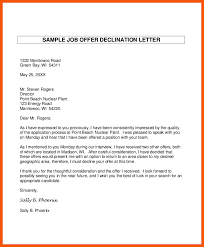 Offer Letter Decline offer letter - pelosleclaire.com