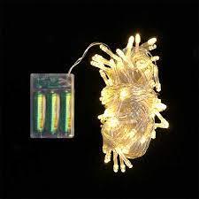 Şeffaf Kablolu 10 Metre Gün Işığı Sarı Renk Pilli Led Işık Fonksiyonlu