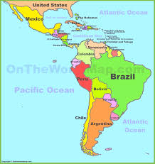 map of the united states and south america  ambearme