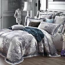 king size duvet covers luxury jacquard satin champagne wedding bedding set king queen size quilt duvet