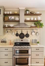 open shelves kitchen hood